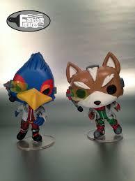 fox mccloud and falco lombardi custom funko pop vinyl from starfox and super smash bros