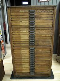 antique printers cabinet primitive 30 drawer oak hamilton manufacturing printers cabinet