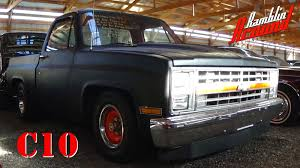 1983 Chevrolet C10 Shortbed Pickup V8 Flat Black - YouTube
