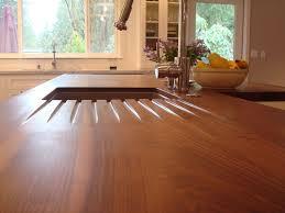 Wooden Kitchen Countertops Stunning Wood Kitchen Countertops Gaining Rustic Interior Settings
