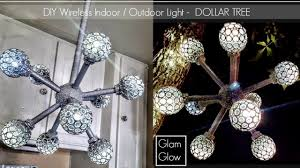 glam lighting. DIY Dollar Tree Glam Wireless Light 💎 Indoor And Outdoor Home Decor Glam Lighting R