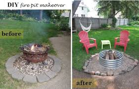 diy outdoor projects.  Projects Before And After Fire Pit In Diy Outdoor Projects