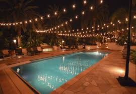 pool outdoor string lights
