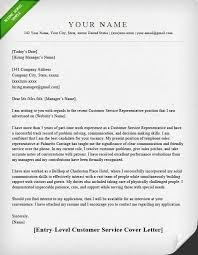 Cover Letter Examples For Customer Service