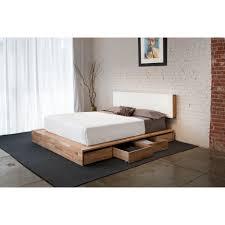 modern wood bed frame designs