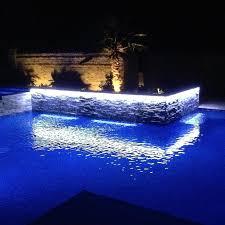 pool waterfall lighting. Led Light Strips Pool Waterfall Lighting