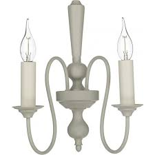 therese traditional chandelier style double wall light in french cream finish