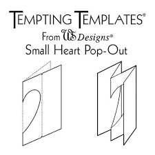 Small Card Template Small Heart Card Template Claritystamp