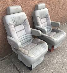 1998 dodge dmc van gray leather vinylfront seats captain chairs chevy ford gm 1 of 12only 1 available see more