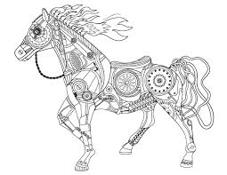 Small Picture Free printable steampunk horse adult coloring page Download it in