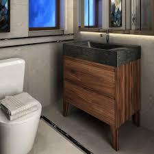 vng30 waw 30 stone and walnut hardwood bathroom vanity unit vanities unik stone