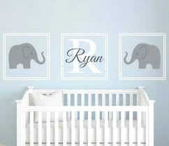 baby room name decals elephant wall art name decal nursery room decor vinyl baby room wall