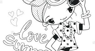 Cute Summer Coloring Pages Easy To Paint Summer Coloring Pages For