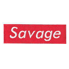 savage diy iron on embroidered applique patch 1 of 1free