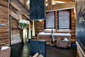 Furnitures:Contemporary White Washbasin On Wooden Wall Wooden Chalet For  Coo Rustic French Interior Design