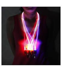 Light Up Lanyard New Led Light Up Neck Strap Band Lanyard Key Chain Id Badge