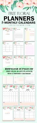 planning calendar template 2018 free printable 2018 monthly calendar and planner in florals free