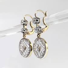 antique art nouveau 1900 s 66ct t w lacey filigree old european cut rose cut diamond chandelier
