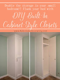 how to build cabinet style closets to flank the bed 738