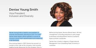 apple s hr head denise young smith moving to newly created  apple s hr head denise young smith moving to newly created inclusion and diversity vp role