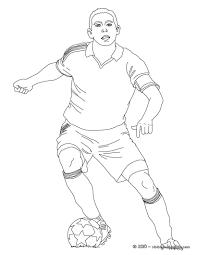 Coloriage Joueur De Football Et Dessin C3 A0 Colorier Joueur De