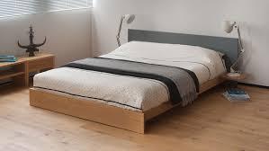 Bedroom Contemporary Storage Bed Light Wood Platform Bed Unique ...
