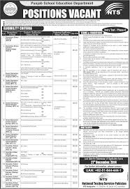 punjab government school educators jobs nts application punjab government school educators jobs 2015 16 nts application form latest advertisement
