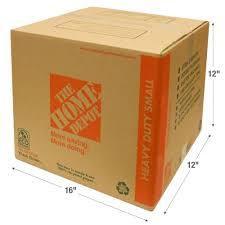 The Home Depot 16 In L X 12 In W X 12 In D Heavy Duty Small Box