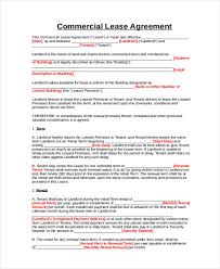A commercial lease is a real estate document for the use of retail, office, or industrial type space between a landlord and a tenant looking to use the property for a business use. Free 9 Business Lease Agreement Samples In Pdf Ms Word