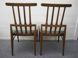 american set of six harvey probber style walnut dining chairs mid century modern for