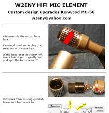 kenwood mc radio communication w2eny hifi electret element w battery box upgrades your kenwood mc 50 desk mic