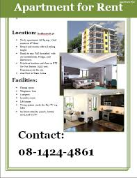 Apartment Flyer Template In 2019 Renting A House Rooms