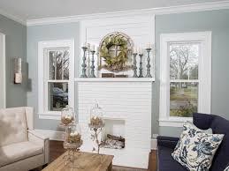 bright white fireplace mantel