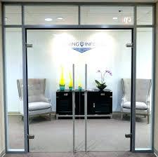 office glass door design. Glass Office Doors Door Double Swing Locking With Design .
