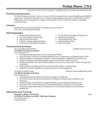 Free Cna Resume Templates Simple Nursing Assistant Resume Template Certified Nursing Assistant Resume