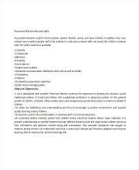 Preschool Teacher Resume Preschool Teaching Resume Sample Preschool Teachers Aide Resume