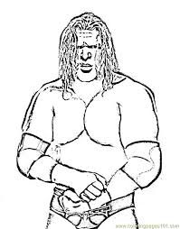 Small Picture Wrestlers 07 Coloring Page Free Wrestling Coloring Pages
