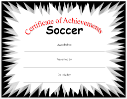 Free Soccer Certificate Templates Soccer Certificate Template Microsoft Word Templates