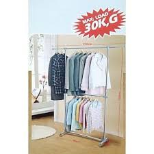 Cloth hanger stands Pole Online Cloth Double Pole Hanger Stand Stainless Steel Large Prices Shopclues India Shopclues Online Cloth Double Pole Hanger Stand Stainless Steel Large