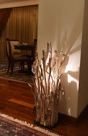Coastal Driftwood Decor Floor Lamp - wood-lamps, floor-lamps