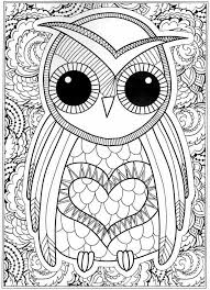 owl coloring pages for adults. Brilliant Owl Owl Coloring Pages  Intended Owl Coloring Pages For Adults L