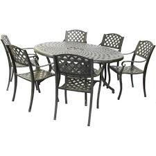 6 seater cast aluminium furniture set