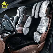 car seats sheepskin car seat covers universal heated cover long wool winter fur front