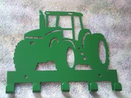John Deere Coat Rack John Deere Modern Color Tractor Key Holder Westphal Ironworks LLC 47