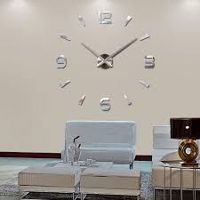 image is loading fashion modern diy large wall clock 3d mirror