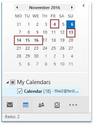 Small Calender How To Bold Dates In Small Calendar On Navigation Pane In Outlook