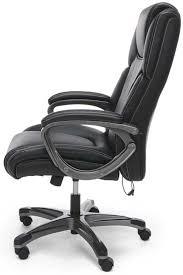 heated shiatsu massage leather office chair