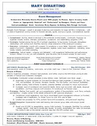 sample event planner resumes