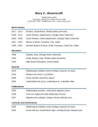 Simple Resumes Templates Simple Simple Underline Resume Template Resume Templates And Samples