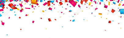 Celebrate Banner Colorful Celebration Banner With Confetti Vector Background